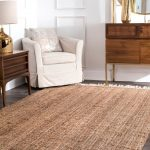Details about nuLOOM Hand Made Natural Jute and Wool Blend Area Rug with Fringe in Tan