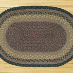 Brown/Black/Charcoal Braided Area Rug