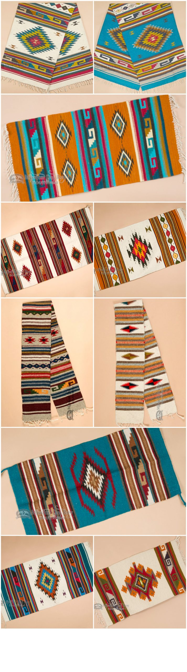 Hand woven southwestern rugs are beautifully designed for a cabin, Santa Fe styl…