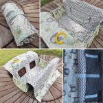 Shopping Trolley / Cart Seat Liner Padded Clean Baby Capsule & Toddler Chair Compact Roll-up Packed