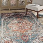 Basso Teal/Rust Area Rug