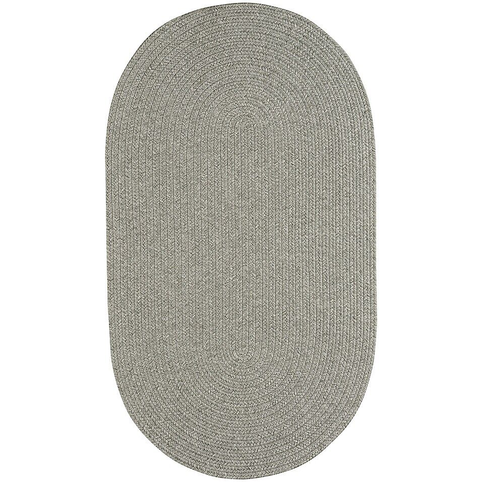 Capel Rugs Candor Oval Braided Indoor/outdoor 4′ X 6′ Area Rug In Green