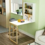 Computer Desk Work Table Floating Wall Mounted Fold-Out Convertible Storage Desk...