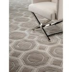 """Eichholtz Shaw Hand-Knotted Wool Brown/Gray Area Rug Rug Size: Rectangle 6'7"""" x 7'10"""""""