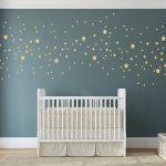 Gold stars wall decal confetti Star Wall Decal, Nursery Wall Decals, Star Wall Stickers, Baby Room, Easy Peel and Stick wall stickers