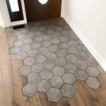 Hexagon Tile Transition Into Wood Flooring by Matt Gibson. #p_roduct • #produc...