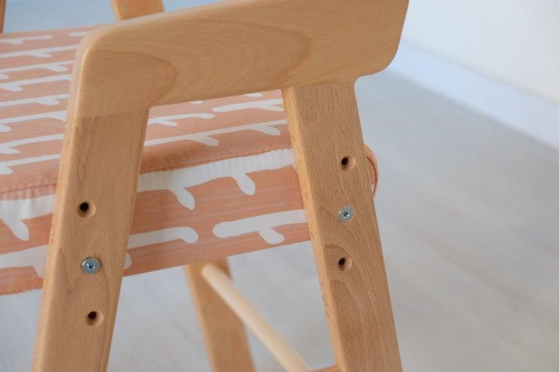 High Chair Toddler Chair Adjustable Baby Chair for Kitchen table, Wooden High Chair for Baby, Kitchen Chair, Baby Chair