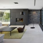 [Living Room] : Contemporary Living Room Design With Clack And White Mix Availab...