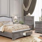 Merida CM7504CHCKB-NCDM 5-Piece Bedroom Set with California King Size Bed  Nightstand  Chest
