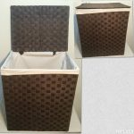 Rectangle Large Weave Laundry / Washing Rattan Wicker Basket With Lining