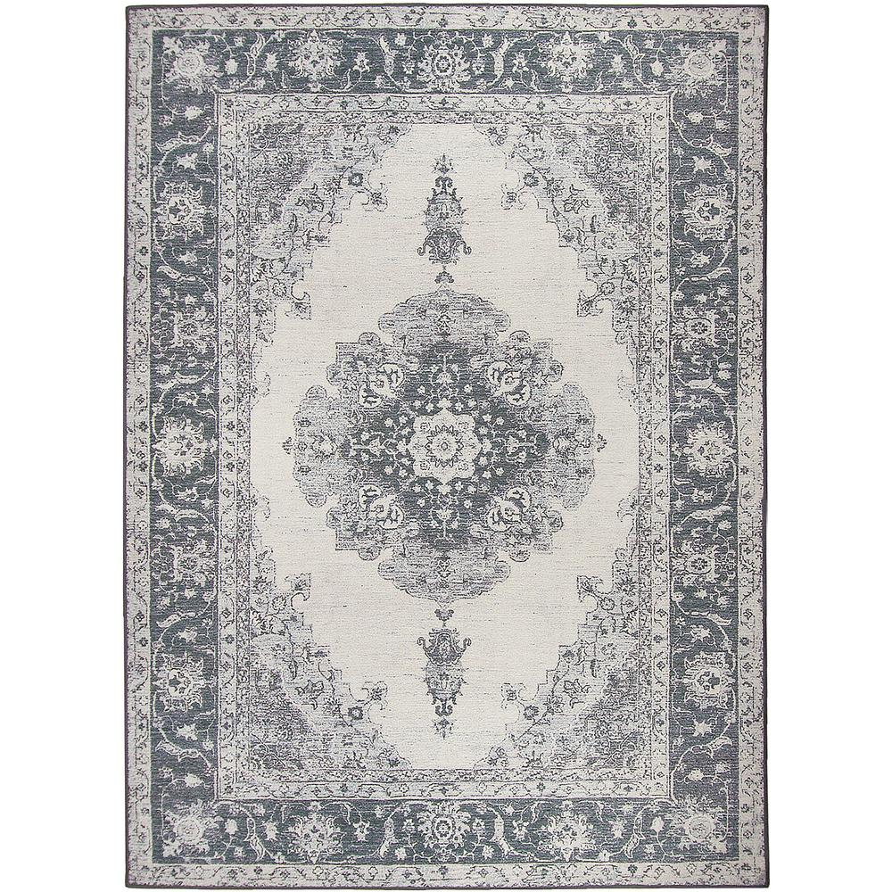 Ruggable Washable Parisa Grey 5 ft. x 7 ft. Stain Resistant Area Rug-131631WEB