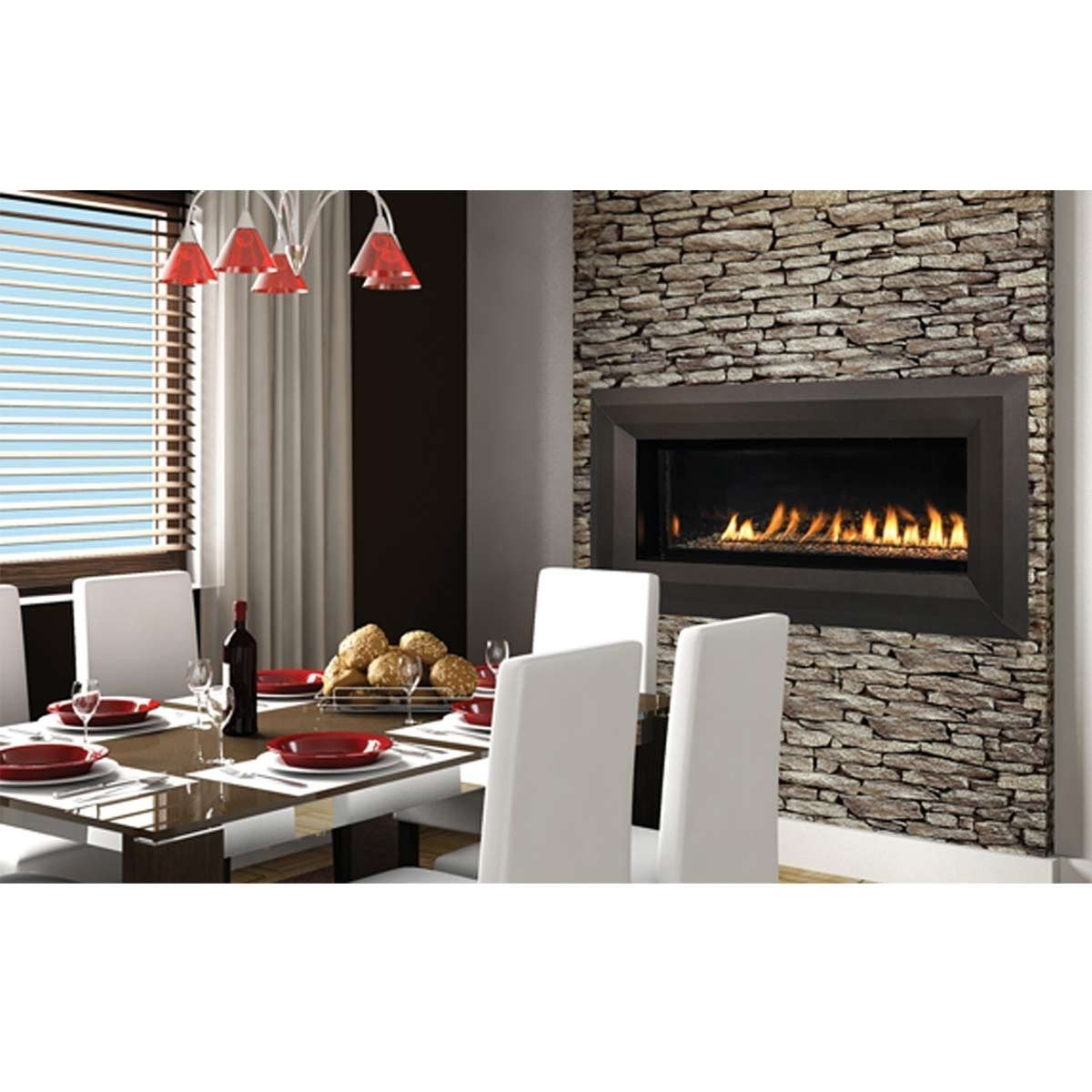 """Superior 43"""" Linear Fireplace Vent Free Fireplace – NG"""