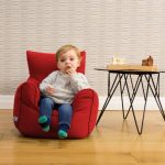 Toddler beanbag armchair in red