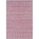 Tomas Bright Pink/Light Gray Indoor/Outdoor Area Rug