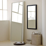 West Elm Floating Wood Floor Mirror, White Lacquer - Decorative Mirrors - Accent Mirrors