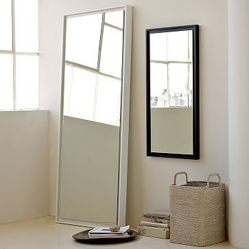 West Elm Floating Wood Floor Mirror, White Lacquer – Decorative Mirrors – Accent Mirrors